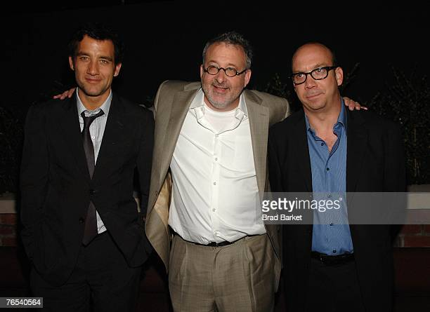 Actor Clive Owen director Michael Davis and actor Paul Giamatti attend the after party for the premiere of ''Shoot 'Em Up'' at the Bowery Hotel on...