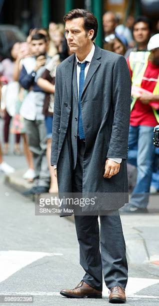 Actor Clive Owen is seen on September 3 2016 on the set of 'Anon' in New York City