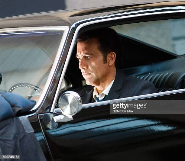Actor Clive Owen is seen on September 4 2016 on the set of 'Anon' in New York City