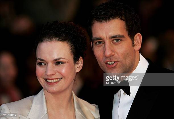 Actor Clive Owen with guest arrives at the Orange British Academy Film and Television Awards at the Odeon Leicester Square February 12 2005 in London