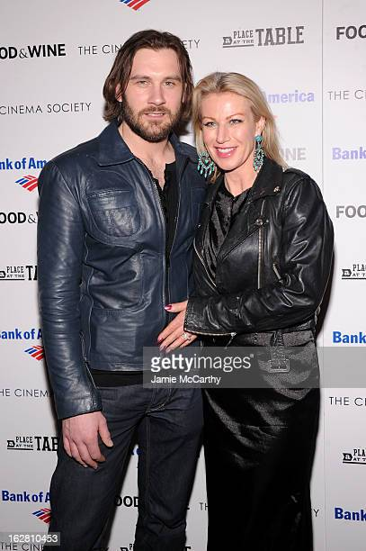 Actor Clive Standen and Francesca Standen attend Magnolia Pictures And Participant Media With The Cinema Society Present A Screening Of A Place At...