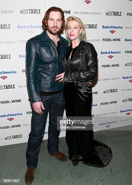 Actor Clive Standen and guest arrive at Bank of America and Food Wine with The Cinema Society present a screening of 'A Place at the Table' at the...