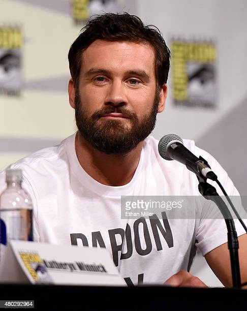 Actor Clive Standen attends a panel for the History series Vikings during ComicCon International 2015 at the San Diego Convention Center on July 10...