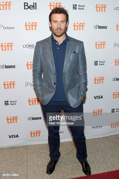 Actor Clive Standen attends the Jackie premiere during the 2016 Toronto International Film Festival at Winter Garden Theatre on September 11 2016 in...