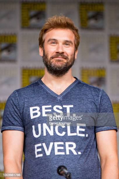 Actor Clive Standen attends the Vikings panel at ComicCon International on July 20 2018 in San Diego California