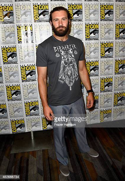 Actor Clive Standen attends the Vikings press line during ComicCon International 2014 at Hilton Bayfront on July 25 2014 in San Diego California