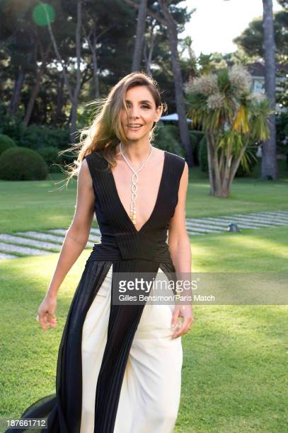 Actor Clotilde Courau is photographed for Paris Match on May 23, 2013 in Cannes, France.