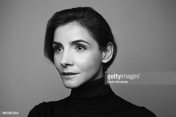 Actor Clotilde Courau is photographed for Self Assignment on January 10 2013 in Paris France