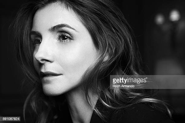 Actor Clotilde Courau is photographed for Self Assignment on January 10, 2013 in Paris, France.