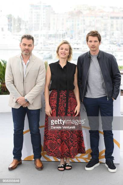 actor Clovis Cornillac director Andrea Bescond and actor Clovis Cornillac attend the photocall for the Little Tickles during the 71st annual Cannes...