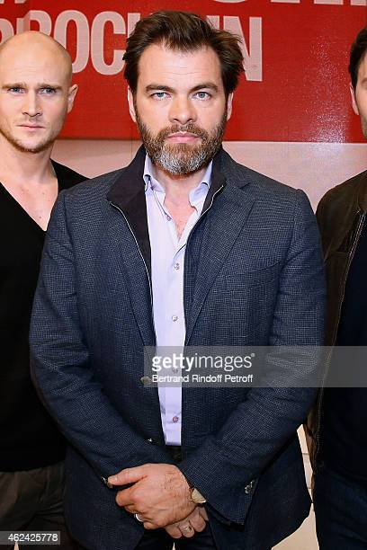 Actor Clovis Cornillac presents the TV Series 'Chefs' during the 'Vivement Dimanche' French TV Show at Pavillon Gabriel on January 28 2015 in Paris...