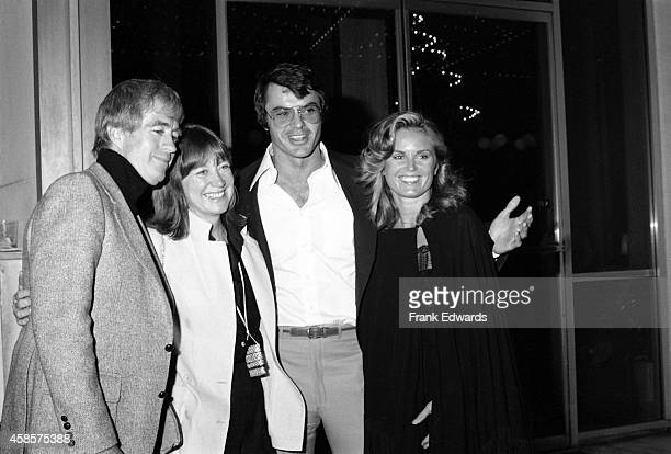 Actor Clu Gulager and his wife Miriam pose with actor Robert Urich and his wife Heather before the ABC Affiliate Party in May, 1978 in Los Angeles,...