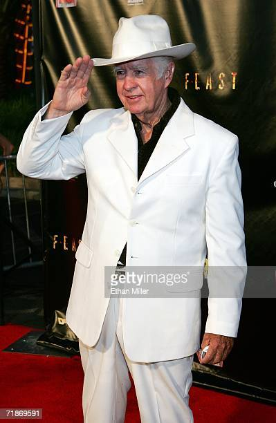 Actor Clu Gulager arrives at the premiere of the movie Feast at the Palms Casino Resort September 12 2006 in Las Vegas Nevada The horror film...