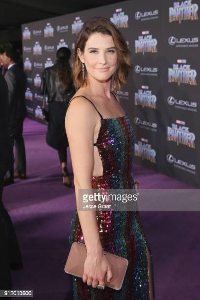 Actor Cobie Smulders at the Los Angeles World Premiere of Marvel Studios' BLACK PANTHER at Dolby Theatre on January 29 2018 in Hollywood California