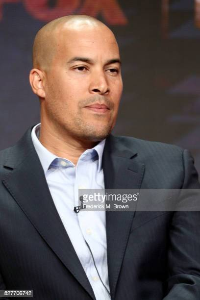 Actor Coby Bell of 'The Gifted' speaks onstage during the FOX portion of the 2017 Summer Television Critics Association Press Tour at The Beverly...