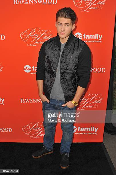 Actor Cody Christian attends a screening of ABC Family's Pretty Little Liars Halloween episode at Hollywood Forever Cemetery on October 15 2013 in...