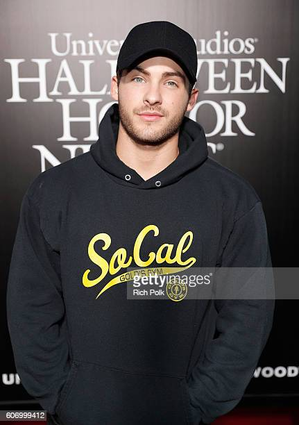 Actor Cody Christian attends Universal Studios 'Halloween Horror Nights' opening night at Universal Studios Hollywood on September 16 2016 in...