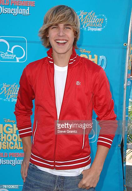 Actor Cody Linley arrives at the premiere of 'High School Musical 2' at the Downtown Disney District at Disneyland Resort on August 14 2007 in...