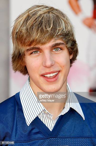 Actor Cody Linley arrives at the 'The Game Plan' premiere at the El Capitan Theatre on September 23 2007 in Hollywood California