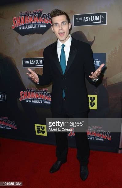 Actor Cody Linley arrives for the Premiere Of The Asylum And Syfy's 'The Last Sharknado It's About Time' held at Cinemark Playa Vista on August 19...