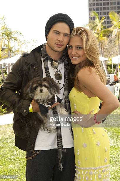 Actor Cody Longo and actress Cassie Scerbo attend day 2 of GroVia and Celebrity Parents Celebrate at Annual Dog and Baby Buffet at Hyatt Regency...