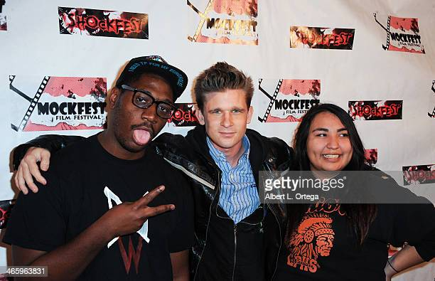 Actor Cody Mullins and guests attend the ShockFest Film Festival Awards held at Raleigh Studios on January 11 2014 in Los Angeles California