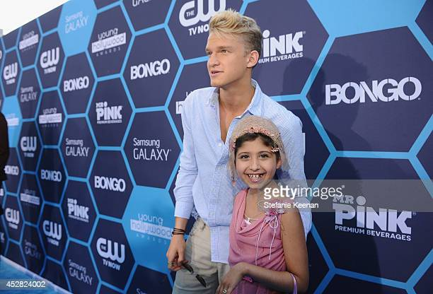 Actor Cody Simpson and Make a Wish recipient Wish Child Grace attend the 2014 Young Hollywood Awards brought to you by Samsung Galaxy at The Wiltern...