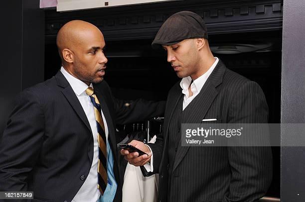 Actor/ CoFounder of ALFA Boris Kodjoe and his brother Patrick Kodjoe attend an evening of fun and ALFA luxury custom tailor fashion at South Street...