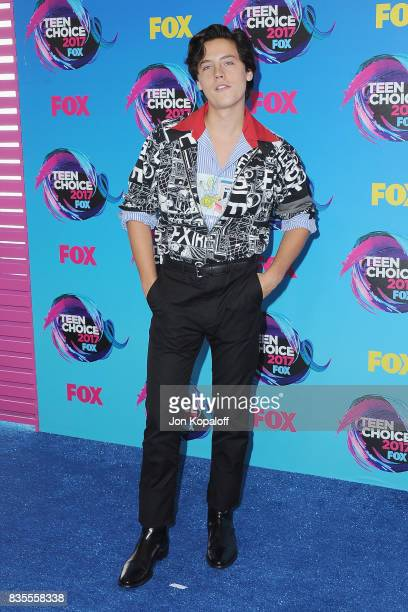 Actor Cole Sprouse arrives at the Teen Choice Awards 2017 at Galen Center on August 13 2017 in Los Angeles California