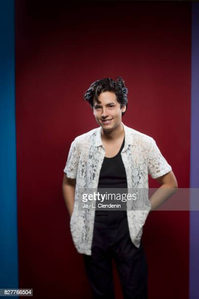 Actor Cole Sprouse from the television series 'Riverdale' is photographed in the LA Times photo studio at ComicCon 2017 in San Diego CA on July 22...