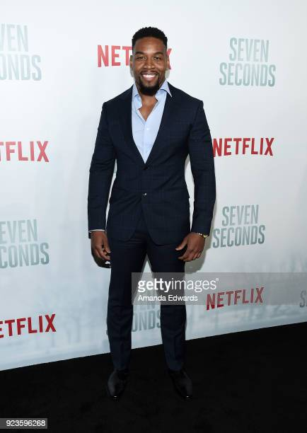 Actor Coley Mustafa Speaks arrives at Netflix's 'Seven Seconds' Premiere at The Paley Center for Media on February 23 2018 in Beverly Hills California