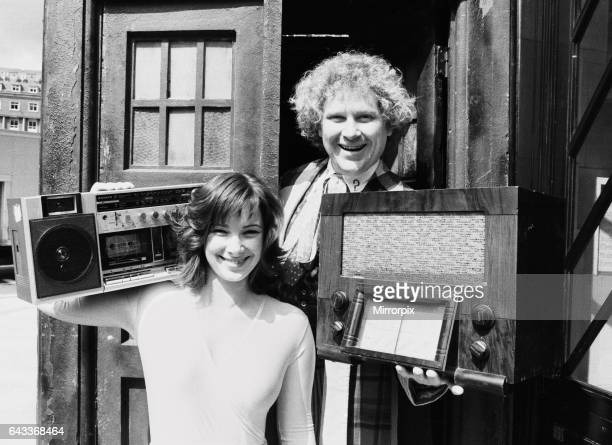 Actor Colin Baker who plays Doctor Who in the BBC science fiction programme photographed with his assistant Nicola Bryant who plays Perpugilliam...