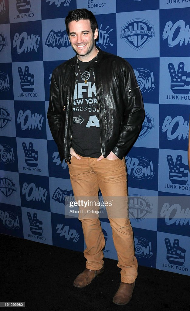 Actor Colin Donnell attends the Warner Bros. Consumer Products And Junk Food Celebrate The Launch Of The Batman Classic TV Series Licensing Program held at Meltdown Comics and Collectibles on March 21, 2013 in Hollywood, California.