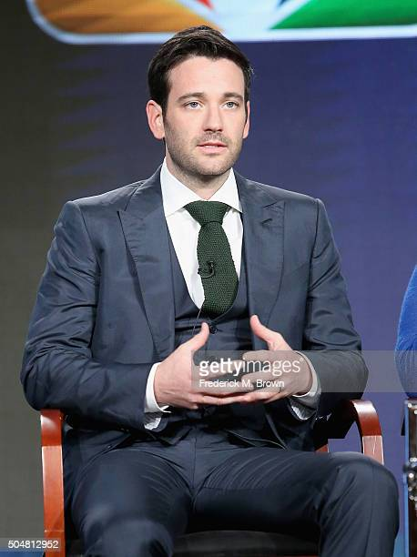 Actor Colin Donnell of 'Chicago Med' speaks onstage during the 'Chicago Fire' 'Chicago PD' and 'Chicago Med' panel discussion at the NBCUniversal...