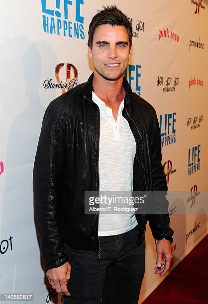 Actor Colin Eggelsfield arrives to the premiere of Lfe Happens at AMC Century City 15 theaters on April 2 2012 in Century City California