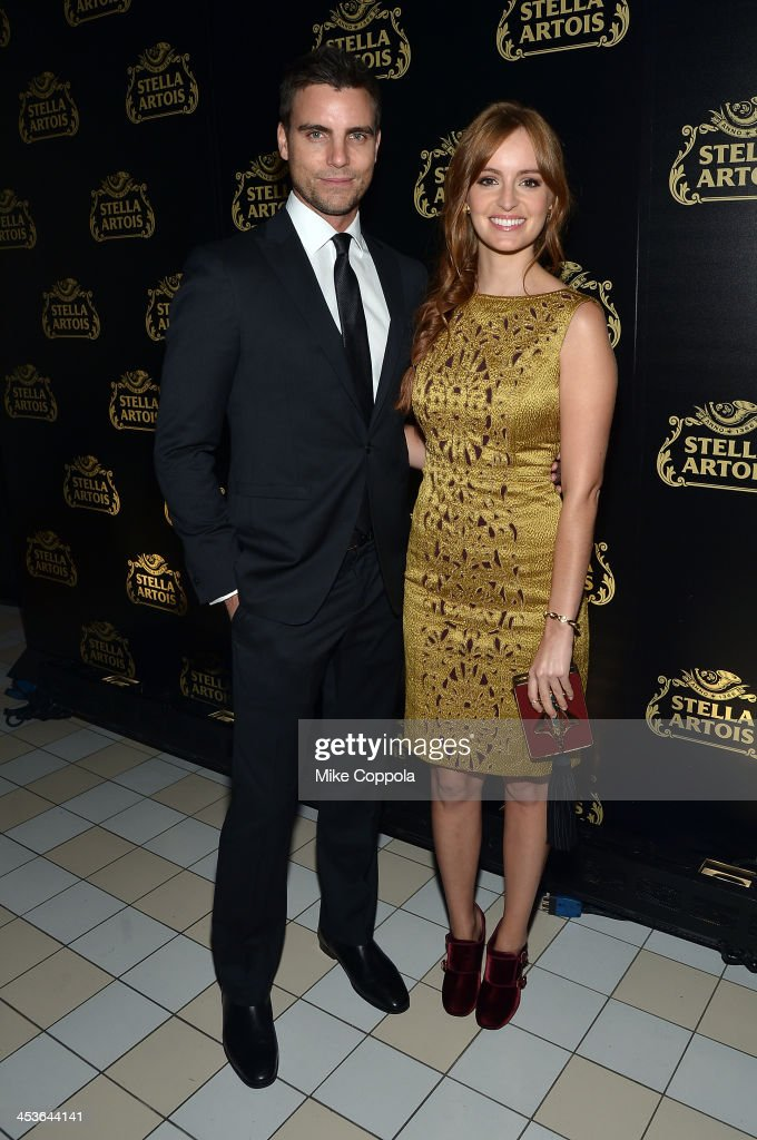 Actor Colin Egglesfield (L) and Actress Ahna O'Reilly at launch event for Stella Artois Crystal Chalice in New York Citys Meatpacking District on December 4, 2013.