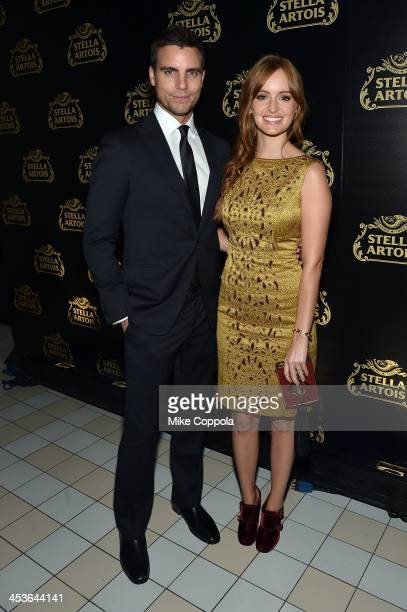 Actor Colin Egglesfield and Actress Ahna O'Reilly at launch event for Stella Artois Crystal Chalice in New York Citys Meatpacking District on...