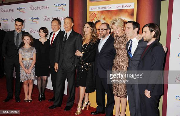 Actor Colin Farrell, actress Annie Rose Buckley, actress Melanie Paxton, actor Bradley Whitford, actor Tom Hanks, producer Rita Wilson, actor Paul...