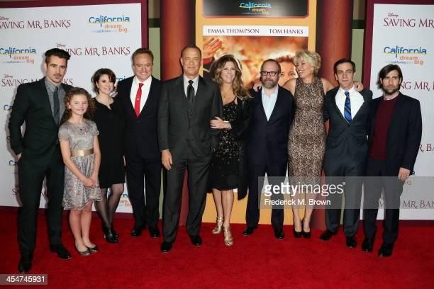 Actor Colin Farrell actress Annie Rose Buckley actresss Melanie Paxton actor Bradley Whitford actor Tom Hanks producer Rita Wilson actor Paul...