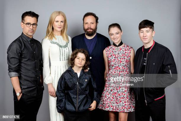 Actor Colin Farrell actress Nicole Kidman actor Sunny Soljic director Yorgos Lanthimos actress Raffey Cassidy and actor Barry Keoghan from the film...