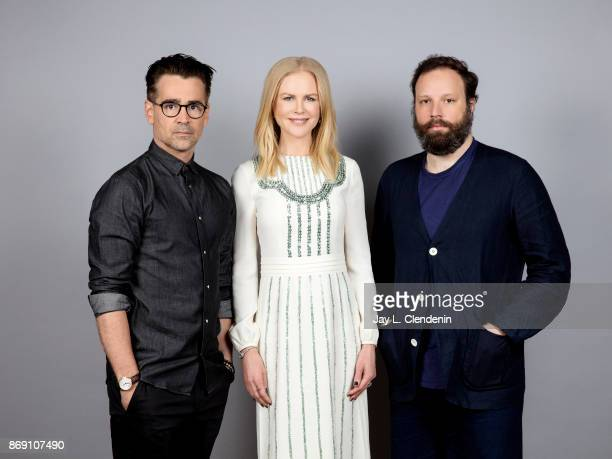 Actor Colin Farrell actress Nicole Kidman and director Yorgos Lanthimos from the film 'Killing of a Sacred Deer' poses for a portrait at the 2017...