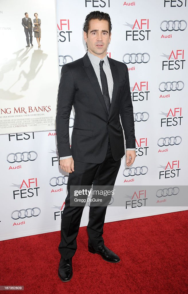 Actor Colin Farrell arrives at AFI FEST 2013 Opening Night Gala premiere of 'Saving Mr. Banks' at TCL Chinese Theatre on November 7, 2013 in Hollywood, California.