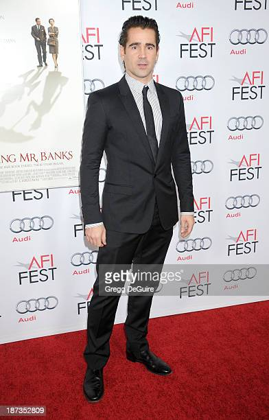 Actor Colin Farrell arrives at AFI FEST 2013 Opening Night Gala premiere of Saving Mr Banks at TCL Chinese Theatre on November 7 2013 in Hollywood...