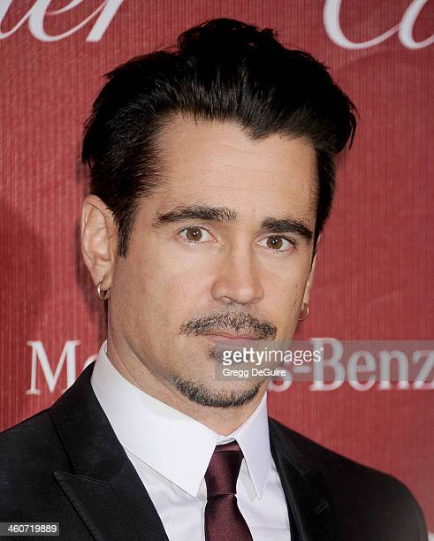 Actor Colin Farrell arrives at the 25th Annual Palm Springs International Film Festival Awards Gala at Palm Springs Convention Center on January 4...
