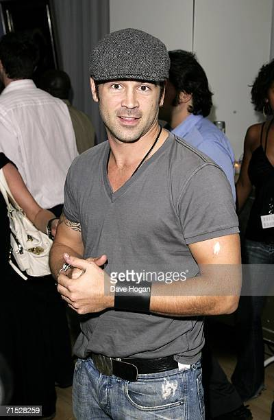 Actor Colin Farrell arrives at the after party following the European premiere of ''Miami Vice'' at Sanderson Hotel on July 27 2006 in London England