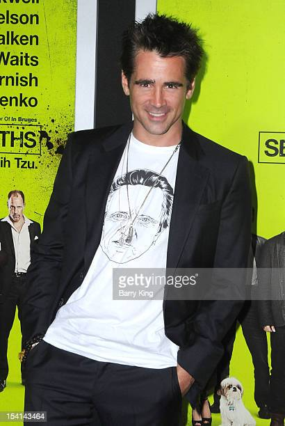 Actor Colin Farrell arrives at the Los Angeles Premiere 'Seven Psychopaths' at Mann Bruin Theatre on October 1 2012 in Westwood California