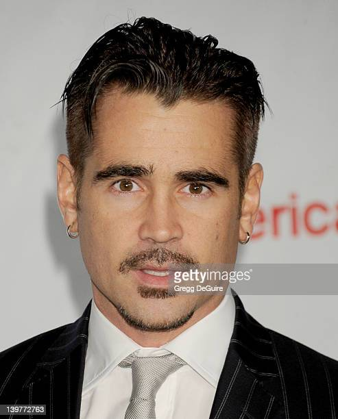 Actor Colin Farrell arrives at The USIreland Alliance Annual Oscar Wilde PreOscar Party at Bad Robot on February 23 2012 in Santa Monica California