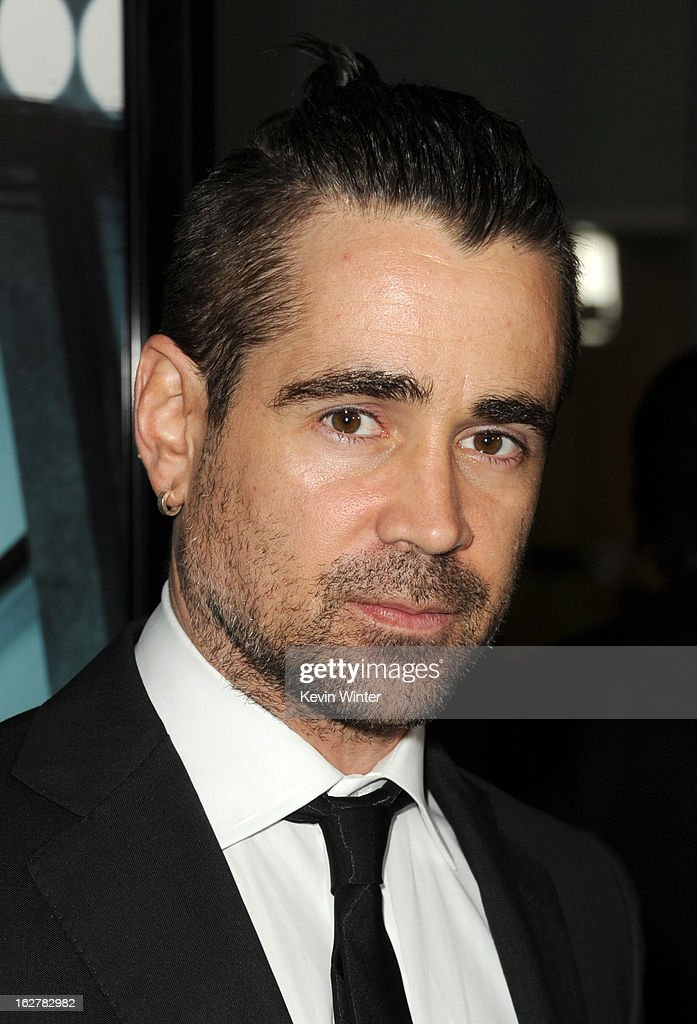 Actor Colin Farrell arrives to the premiere of FilmDistricts's 'Dead Man Down' at ArcLight Hollywood on February 26, 2013 in Hollywood, California.