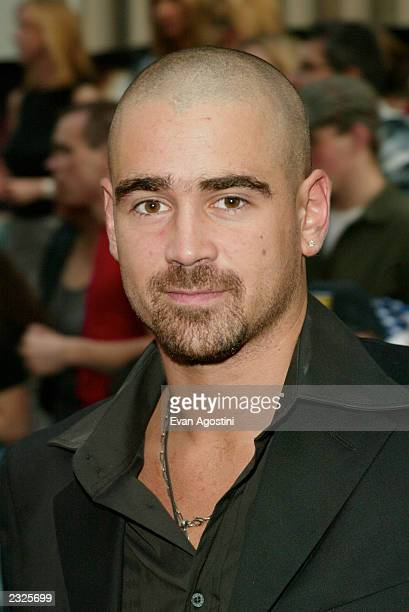Actor Colin Farrell arriving at Minority Report world premiere at the Ziegfeld Theater in New York City June 17 2002 Photo Evan Agostini/ImageDirect