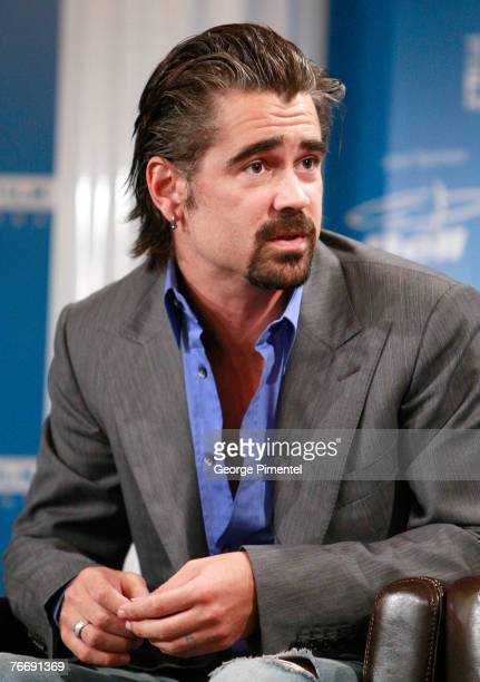 """Actor Colin Farrell at The 32nd Annual Toronto International Film Festival """"Cassandra's Dream"""" Press Conference at Sutton Place Hotel on September..."""